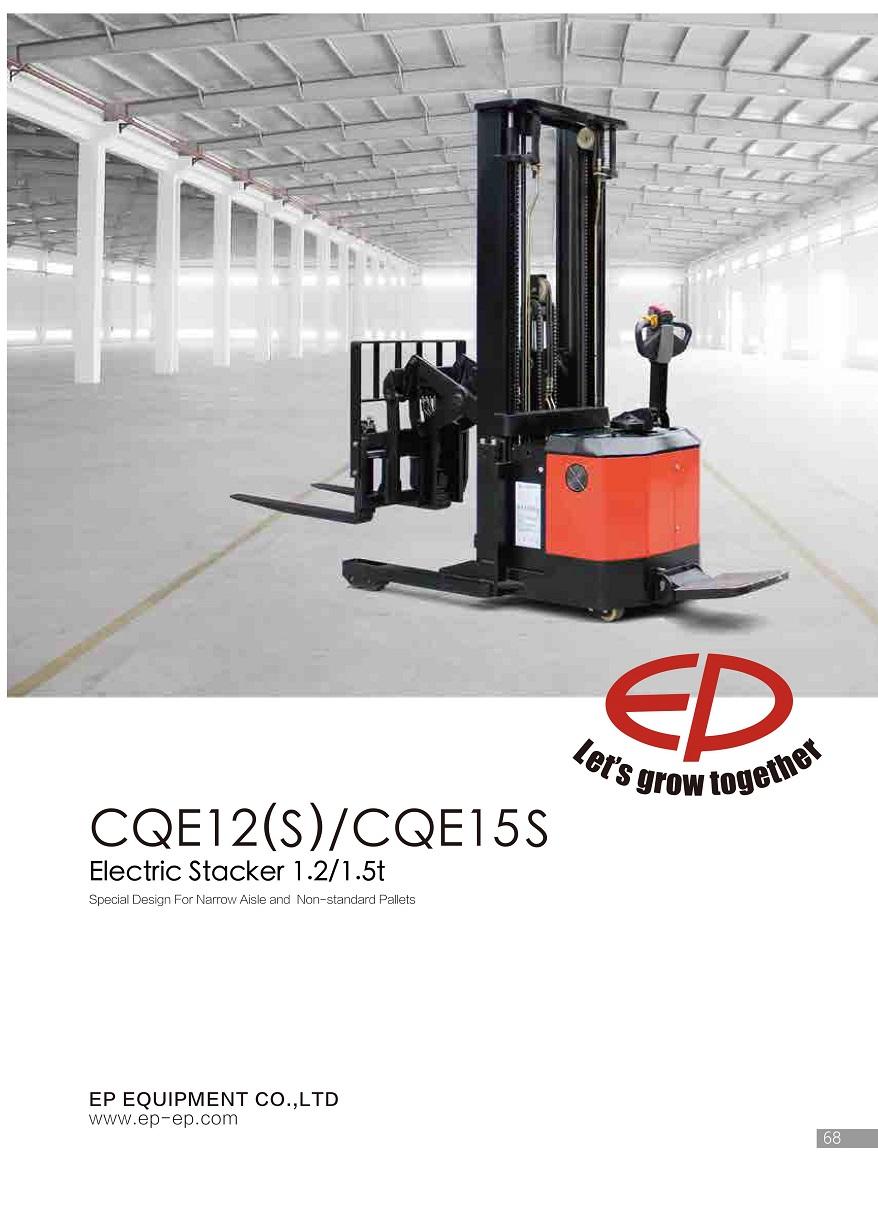 Xe nâng điện đứng lái cắt kéo 1,5 tấn CQE15S