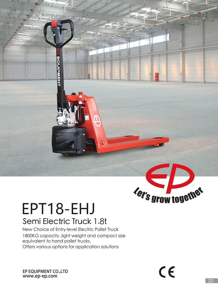 Xe nâng tay bán điện 1,8 tấn, Model EPT18-EHJ