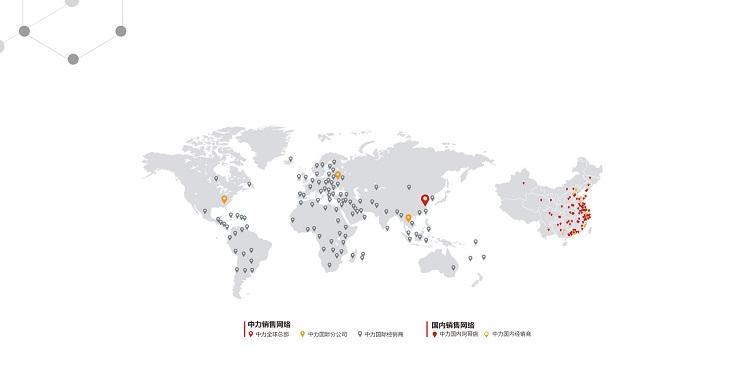 hệ thống bán hàng xe nâng ep toàn cầu